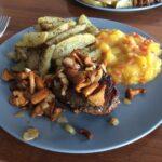 Polędwica wołowa z kurkami i chutney'em z mango