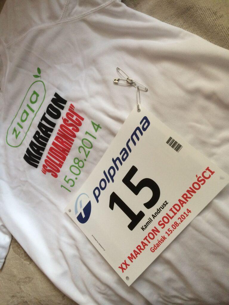 Koszulka i numer startowy - Maraton Solidarności 2014