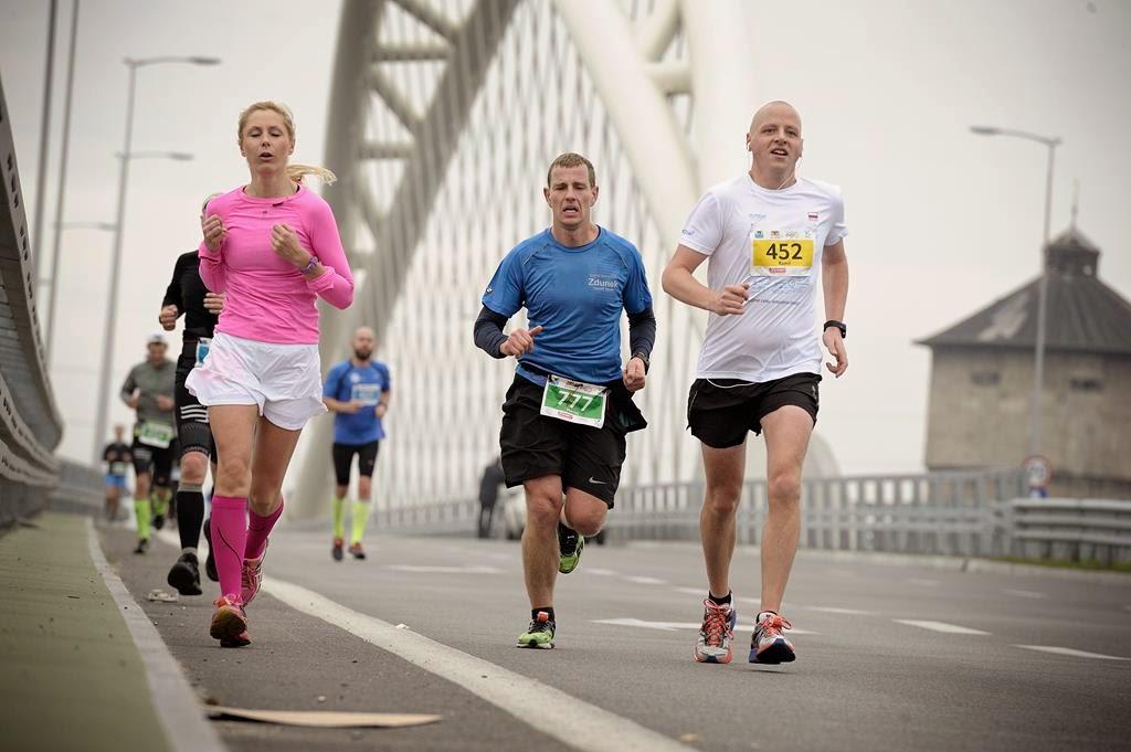 Po ostatnim podbiegu, 20km Półmaratonu Gdańsk