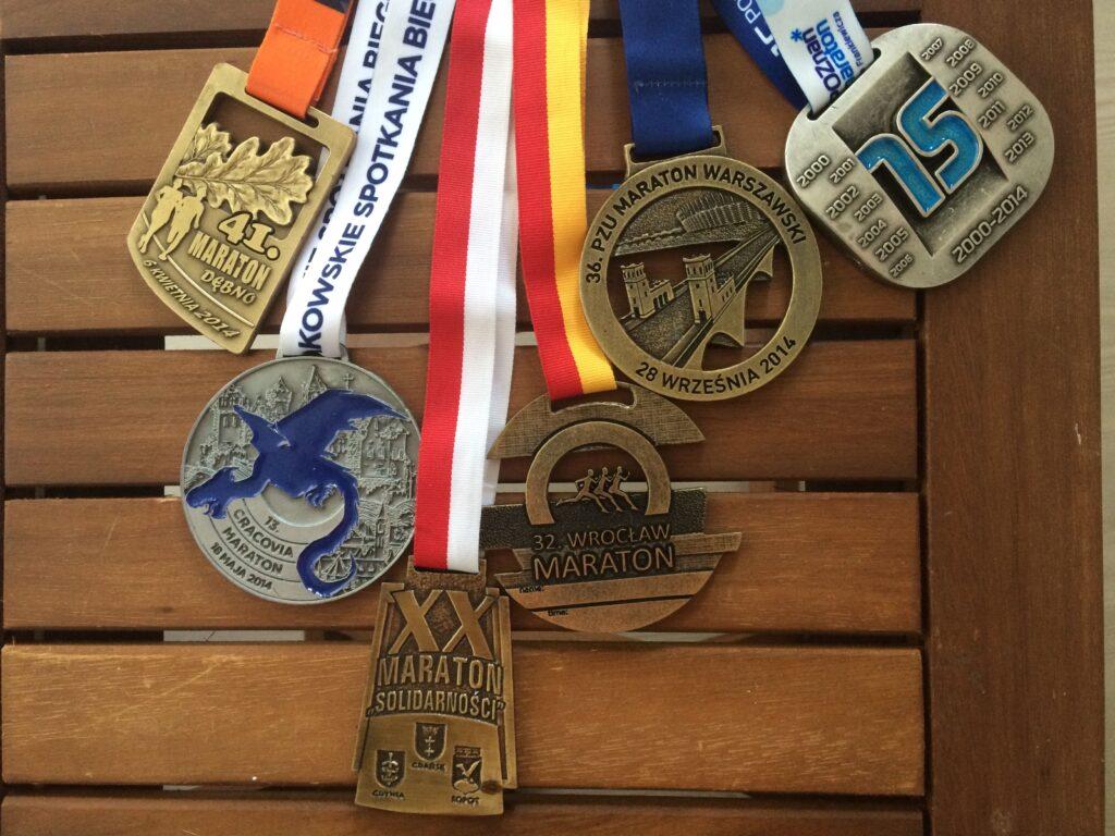 Medale - maratony